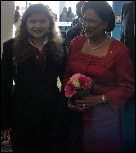 The Prime Minister of Trinidad and Tobago Hon. Kamla Persad-Bissessar